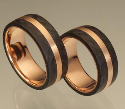 Ringe aus Carbon, Credits: Goldschmiede