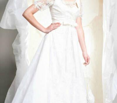 Beispiel: Brautkleid, Foto: Silke Wagner Couture.