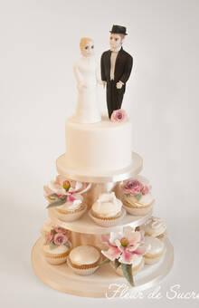 Magnolia und Rosen Cupcakes