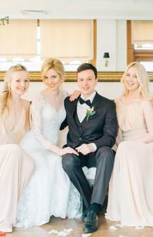 Декор свадьбы в цвете Марсала