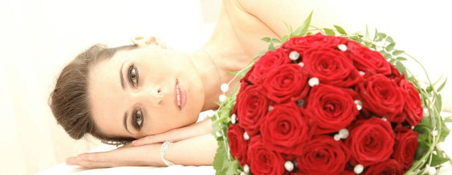 Beispiel: Portrait der Braut, Foto: Troy Productions.