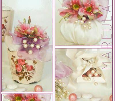 Bomboniere Mareula, matromonio, rose, avorio, raso, confetti avola.
