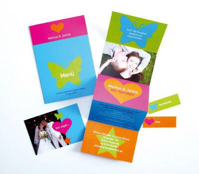 Beispiel: Hochzeitskarten-Set, Foto: StarCards.