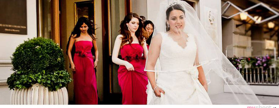Hochzeitsvorbereitung im Imperial Hotel. Hochzeitsfotograf: Steven Lin - www.myshoot.at