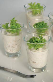 Ceviche de corvina y leche de coco
