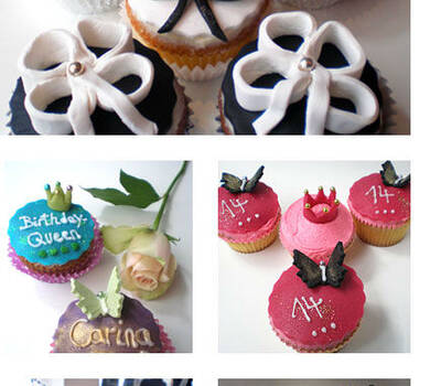 Beispiel: Cupcakes, Foto: Royal Cupcakes.
