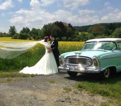 Beispiel: Das besondere Hochzeitsauto, Foto: Oldtimer Bergstraße.