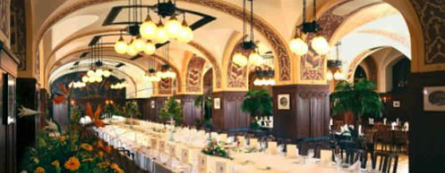Beispiel: Hochzeitstafel im Restaurant Großer Keller, Foto: Auerbachs Keller.