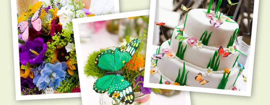 Beispiel: Hochzeitstorte und Dekoration, Foto: Designbureau Simone Metelko-Kager.
