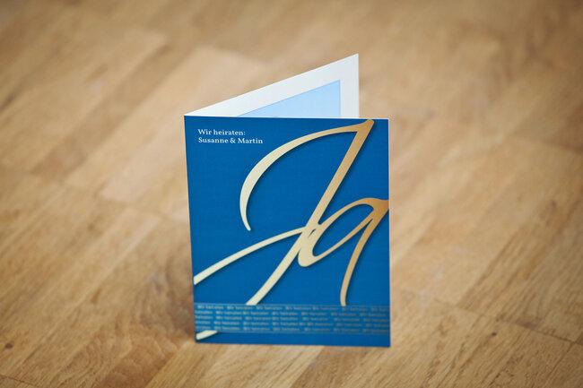 Elegante Hochzeitseinladungskarte