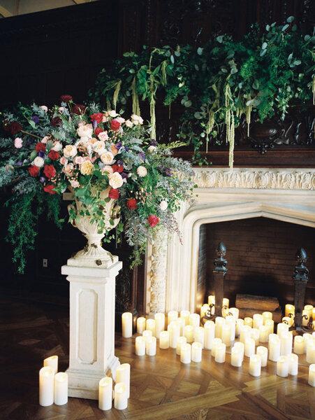 Detalles decorativos para una boda en Navidad.