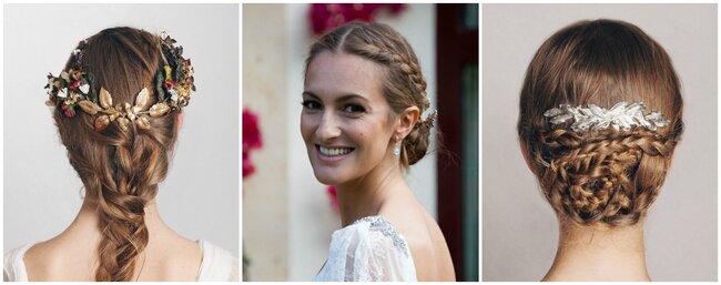 Penteados de noiva com tranças.