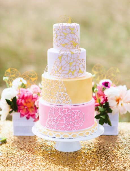 Hochzeits dekoration geometrische formen f r das bankett - Dekoration fur torten ...