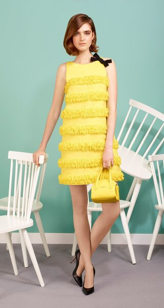 A-line fringed canvas dress, Paule KA.