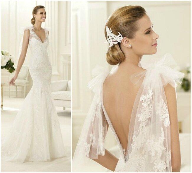 Brautkleide mit Rückenausschnitt von Pronovias