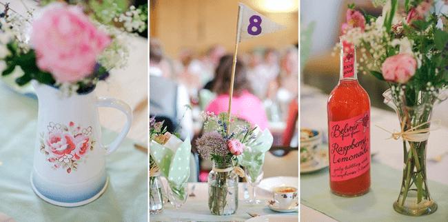 Centros de mesa con inspiración vintage