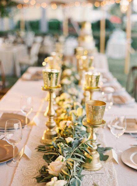 Um casamento em tons gold