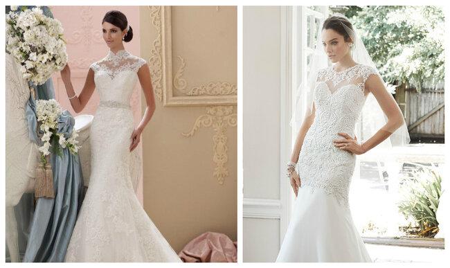 Vestidos de novia con escote ilusión 2017