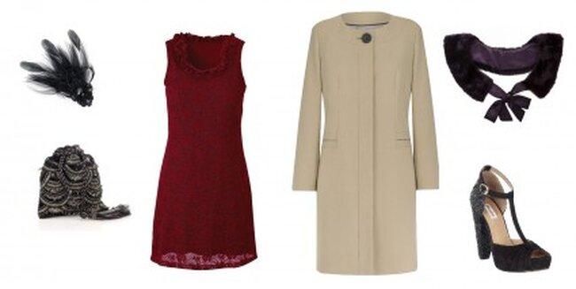 Abito: Bonprix.co.uk, cappotto: M&S, scarpe: Dune, borsa ed accessori:  Accessorize, Fur Collar  AWear