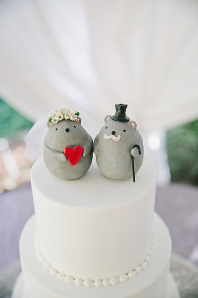 Muñecos para tartas de boda.