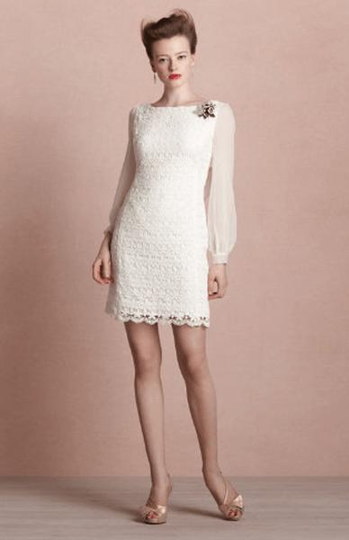 Kurze Brautkleider für das Standesamt 2013
