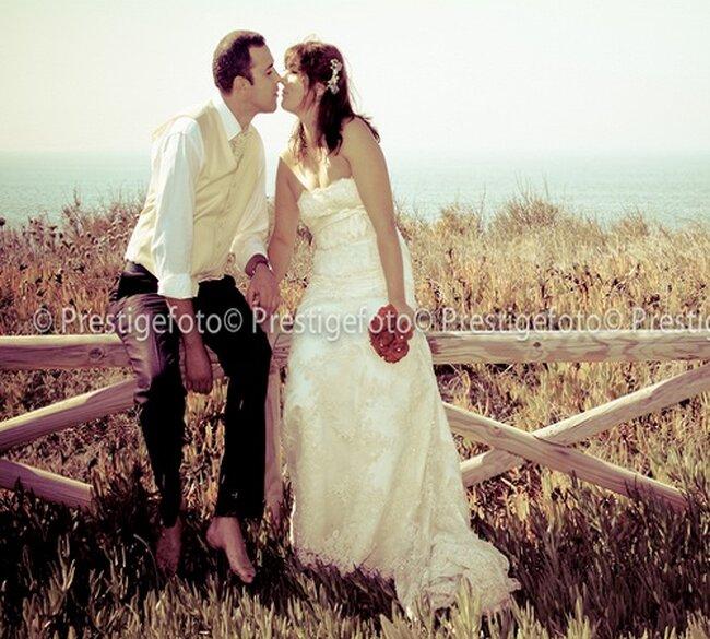 Ideas de fotos en pareja durante la boda. Foto PrestigeFoto