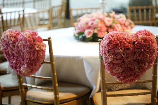 Decoração de corações para seu casamento. Foto: Boutique de Tres Deco