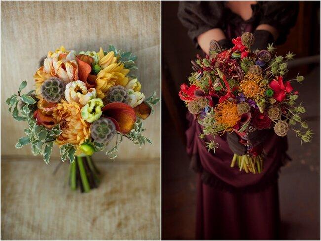 Bouquets aux tons de cette jolie saison