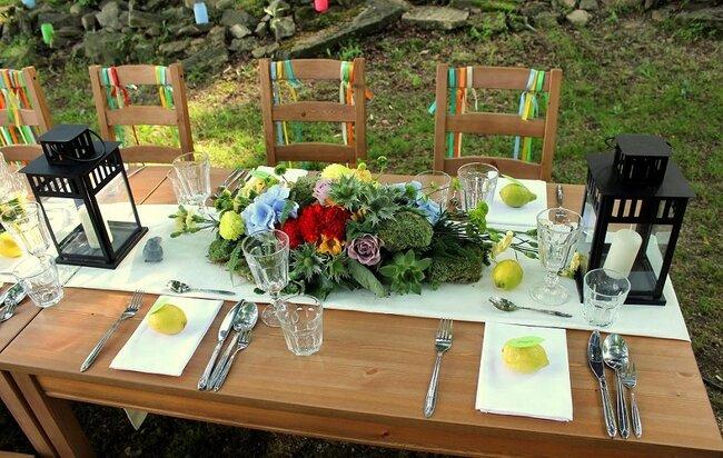 Cytryny w roli dekoracji weselnej