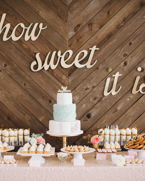 Mesa dulce para boda.