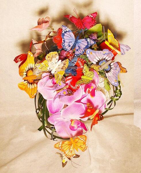 Bruidsboeket met vlinders
