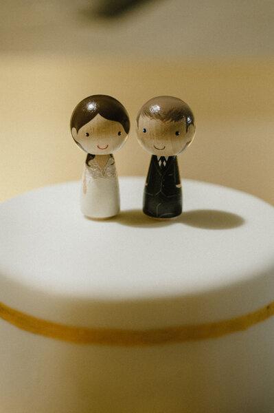 Figurki na tort weselny.