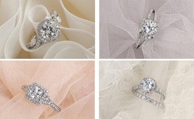 Románticos y elegantes anillos de compromiso diseñados por Monique Lhuillier