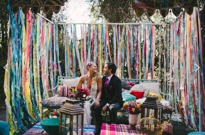 Añade detalles de tu hogar a la decoración de tu boda. ¡Un estilo diferente y con mucha personalidad!