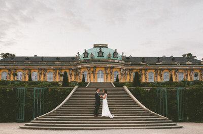 Magiczna sesja ślubna w Poczdamie! Zamki, parki i uczucie!