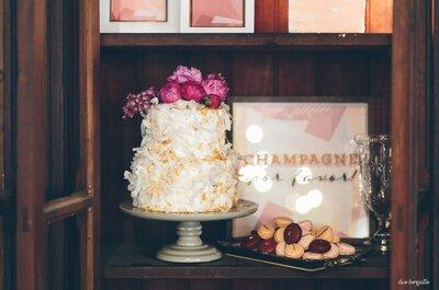 7 estilos de bolo de casamento que vão BOMBAR em 2017!