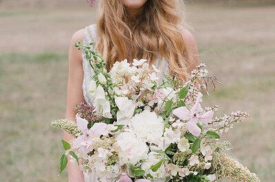 Tendencia en vigor de los tocados de flores para novias