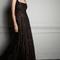 Vestido de fiesta 2014 en color negro con fondo nude y escote cuadrado