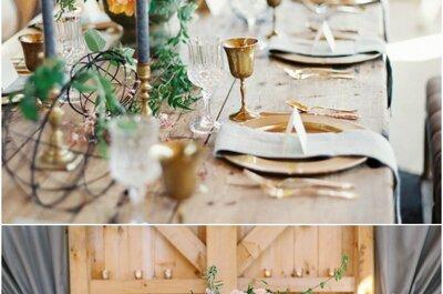 Wymarzone wesele: szykowny ślub w rustykalnym stylu!