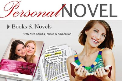 A personalised novel - the ideal wedding gift