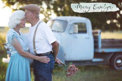 Przeżyli raz 57 lat, ale siła ich miłości dopiero rośnie w siłę! Fantastyczne zdjęcia młodych serc!