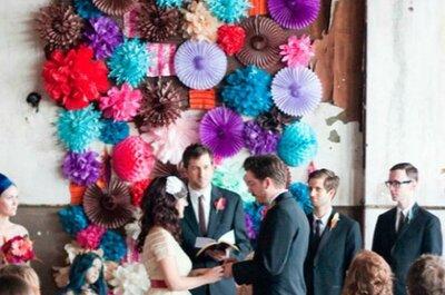 Detalhes de decoração de casamento DIY