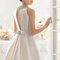 Hochzeits-Kleid: Brautkleid mit Schleife im Rücken