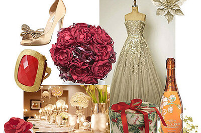 Los mejores colores para una boda navideña