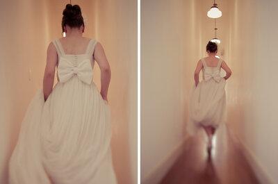 Vestidos de noivas com laços