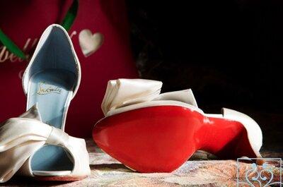 Louboutin con suela azul, descubre la historia de los zapatos de novia más clásicos