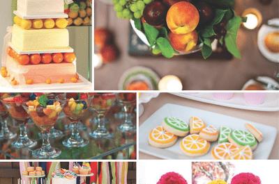 Tutti Frutti: Una tendencia para bodas llena de color, textura ¡y mucho sabor!