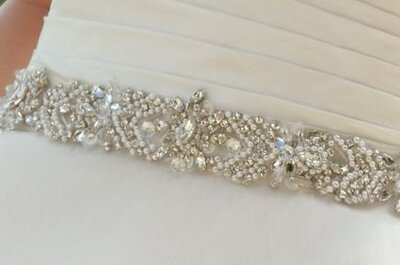 Lindos cintos para vestidos de noiva
