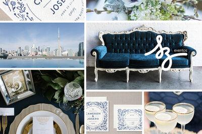 Azul clásico, el color ideal para una boda sofisticada, elegante y con los mejores detalles: Tips básicos para decoración