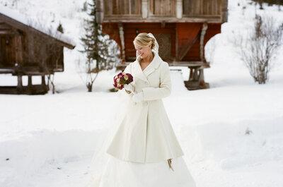 Propuestas de vestidos de novia de manga larga